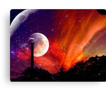 ZhuRong, Planet of Fire, Andromeda Galaxy Canvas Print