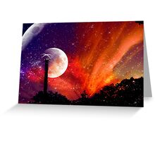 ZhuRong, Planet of Fire, Andromeda Galaxy Greeting Card