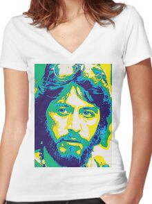 Al Pacino in Serpico Women's Fitted V-Neck T-Shirt