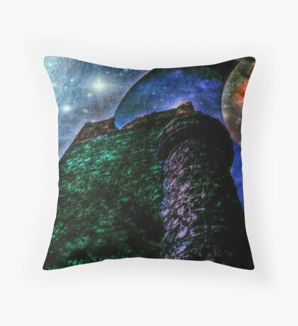 Looking to the Sky, Andromeda Galaxy Throw Pillow