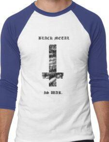 Black Metal Is War - White Shirt Men's Baseball ¾ T-Shirt