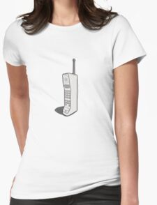 Retro Mobile Womens Fitted T-Shirt