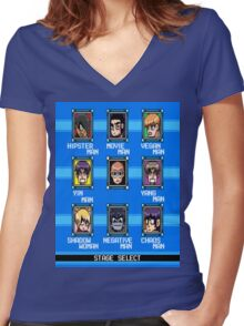 Pilgrim Man Women's Fitted V-Neck T-Shirt