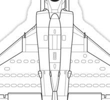 Douglas A-4 Skyhawk Blueprint Sticker