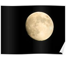 Full Moon Through Ambient Light Poster
