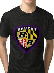 8Bit Ravens Coat of Arms Tri-blend T-Shirt