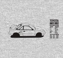 Toyota AW11 MR2 - AERO - TEE (W/ White Arrows) by Lindsay Thebus