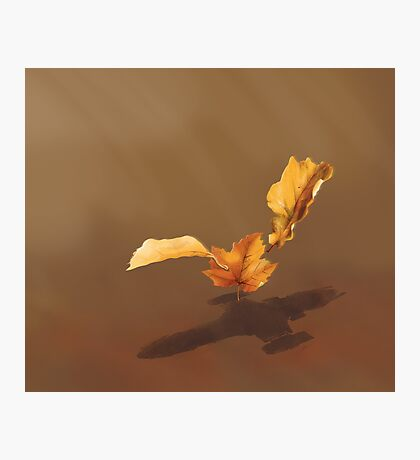 Leaf on the Wind Photographic Print