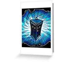 Dr Who - The Tardis Greeting Card