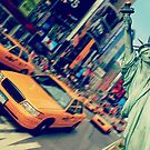 new york times square taxi statue of liberty by Noel Moore Up The Banner Photography