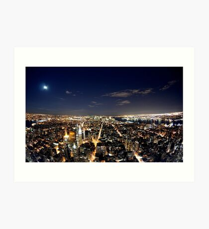 NYC from Empire State Building Art Print