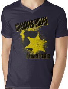 Grammar Police Mens V-Neck T-Shirt