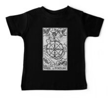 Wheel of Fortune Tarot Card - Major Arcana - fortune telling - occult Baby Tee