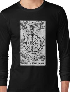 Wheel of Fortune Tarot Card - Major Arcana - fortune telling - occult Long Sleeve T-Shirt