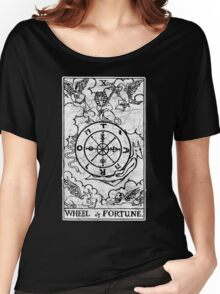 Wheel of Fortune Tarot Card - Major Arcana - fortune telling - occult Women's Relaxed Fit T-Shirt