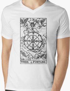 Wheel of Fortune Tarot Card - Major Arcana - fortune telling - occult Mens V-Neck T-Shirt