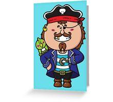 kawaii Pirate Greeting Card