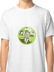 Businessman People Smiling Speech Bubble Classic T-Shirt