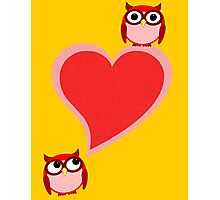 Hoo? Me? Blushing! Photographic Print
