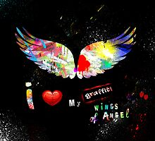 I love my Graffiti wings of angel by PASLIER Morgan