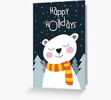Bear Holiday Card Greeting Card