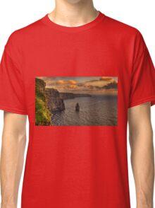 cliffs of moher scenic sunset landscape seascape ireland Classic T-Shirt
