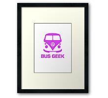 Bus Geek Purple Framed Print