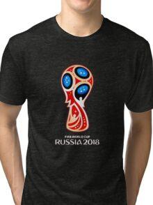 Russia 2018, Fifa World Cup logo (A) Tri-blend T-Shirt