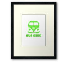 Bus Geek Green Framed Print