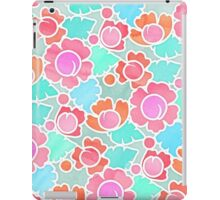 Pastel Tropical Floral Pattern Design with watercolor texture iPad Case/Skin