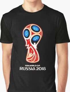 Russia 2018, Fifa World Cup logo (A) Graphic T-Shirt
