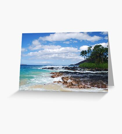 Pa'ako Beach, Makena ~Morning light Greeting Card