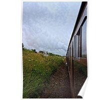 Steam train coach reflection Poster