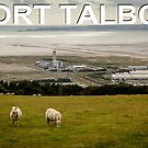 Port Talbot Postcard - Baglan Bay Scene by digihill