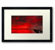 """""""Griffin's Fire Storm"""" Framed Print"""