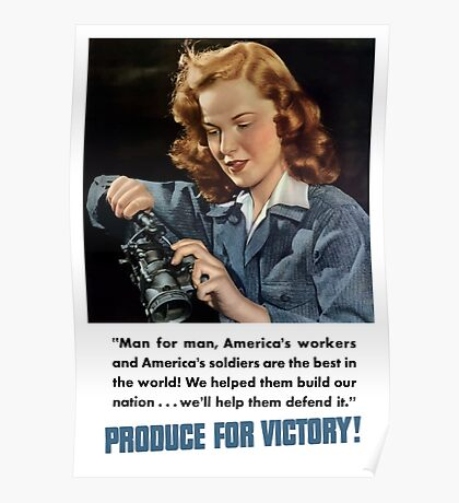 Produce For Victory -- WWII Poster