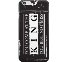 """You Come at the King, You Best Not Miss"" - The Wire (Light) iPhone Case/Skin"