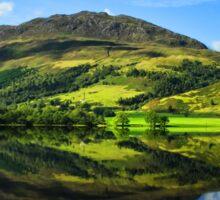 Rural scenic countryside loch nature landscape photography in scotland Sticker