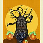 Black Cat Spooky Tree by xgdesignsnyc