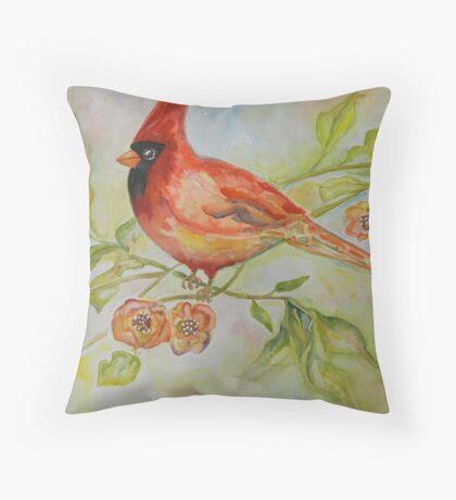Cute Bird Cardinal Throw Pillow