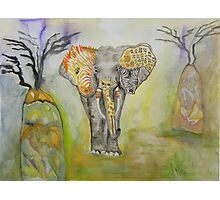 Psychedelic Africa Photographic Print