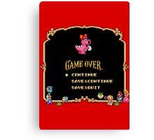 Game Over / Super Mario Bros. 2 Canvas Print