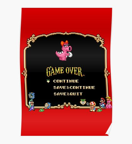 Game Over / Super Mario Bros. 2 Poster