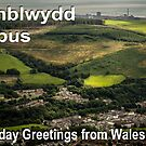 Penblwydd Hapus - Happy Birthday from Wales - Valley Town by digihill