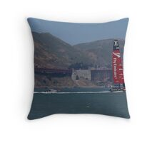 America's Cup Red Hot Throw Pillow
