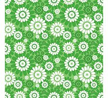 seamless pattern with big and smal abstract flower Photographic Print