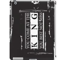 """""""You Come at the King, You Best Not Miss"""" - The Wire (Light) iPad Case/Skin"""