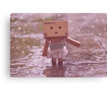 Danbo dancing in the rain Canvas Print