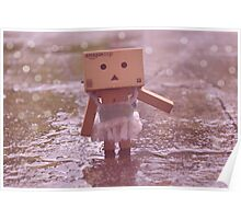 Danbo dancing in the rain Poster