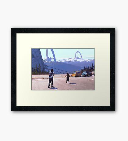 Klövsjöreläet Framed Print